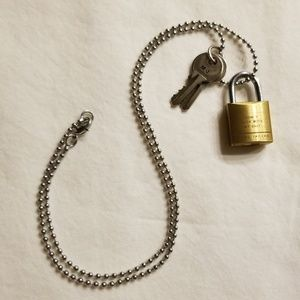 Marc Jacobs Padlock Necklace